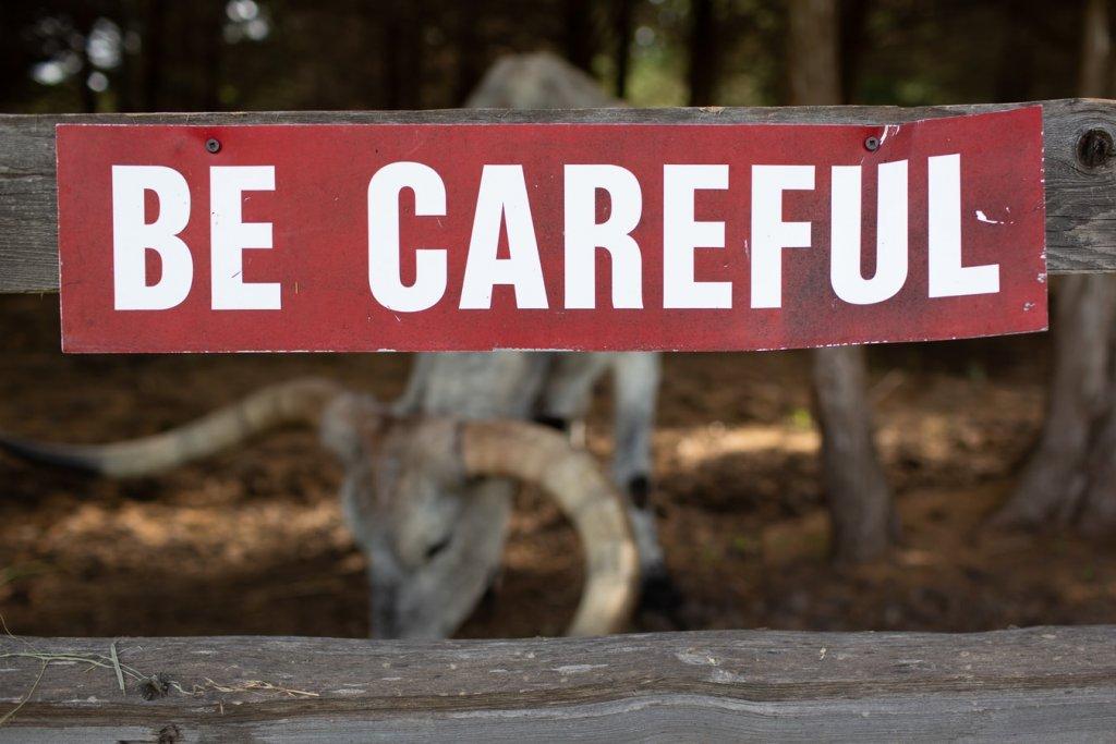 注意してください
